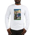 St Francis & Schnauzer (#5) Long Sleeve T-Shirt