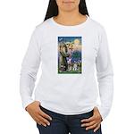 St Francis & Schnauzer (#5) Women's Long Sleeve T-