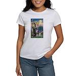 St Francis & Schnauzer (#5) Women's T-Shirt