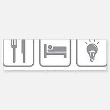 EatSleepInvent1C Sticker (Bumper)