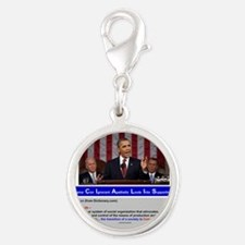 SOCIALIST - The Obama Path - D Silver Round Charm