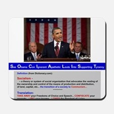 SOCIALIST - The Obama Path - DETAILED - Mousepad