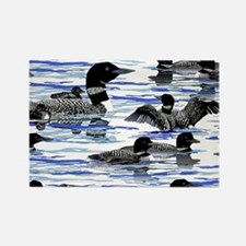 Lots of Loons! Rectangle Magnet