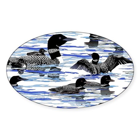 Lots of Loons! Sticker (Oval)