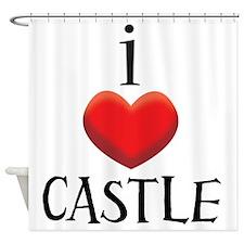 i love CASTLE Shower Curtain
