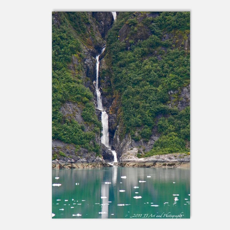 Glacier Waterfall Postcards (Package of 8)