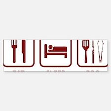 EatSleepBBQ2D Sticker (Bumper)