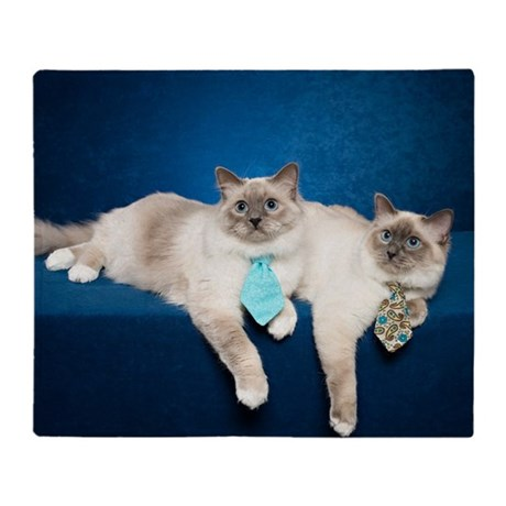 Birman Cat Calendar Throw Blanket