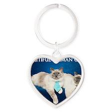Birman Cat Calendar Heart Keychain