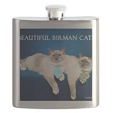 Birman Cat Calendar Flask