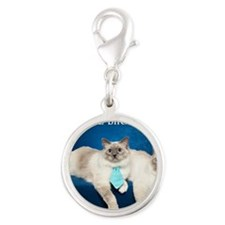 Birman Cat Calendar Silver Round Charm