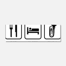 EatSleepTuba1A Car Magnet 10 x 3