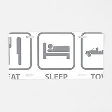 EatSleepTow1C Aluminum License Plate