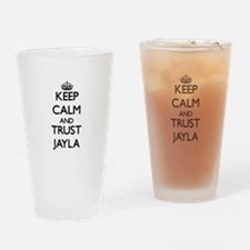 Keep Calm and trust Jayla Drinking Glass