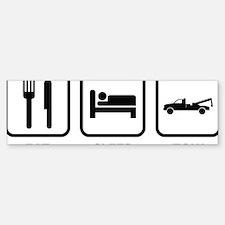 EatSleepTow1A Sticker (Bumper)