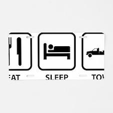EatSleepTow1A Aluminum License Plate