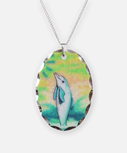 Dolphin Painting Necklace