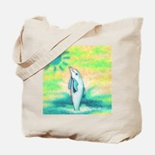 Dolphin Painting Tote Bag