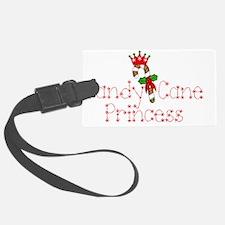 Candy Cane Princess Luggage Tag