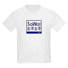 SoWal logo / Beach Flags Kids T-Shirt