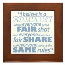 Same Rules Framed Tile