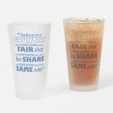 Same Rules Drinking Glass