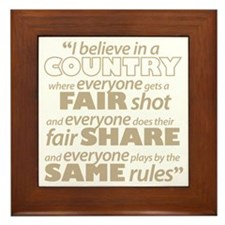 Fair Share Framed Tile