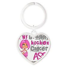 - Granny Kicked Breast Cancer 42 Heart Keychain