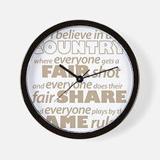 Fair Share Wall Clock
