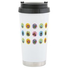 B-Buggz Pattern Travel Coffee Mug