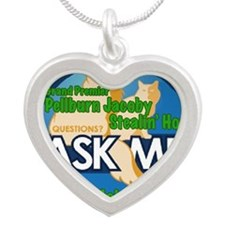 Jakes Ambassador Tag Silver Heart Necklace