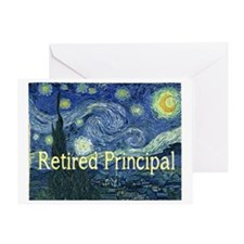 Retired Principal Van gogh blanket Greeting Card