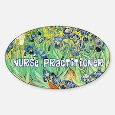 Nurse Practitioner blanket van gogh Decal