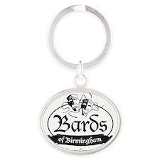 Bards of Birmingham logo Oval Keychain