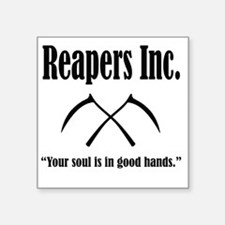 """Best Reapers Logo Square Sticker 3"""" x 3"""""""