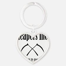 Best Reapers Logo Heart Keychain
