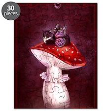 Mushroom Fairy Cat Puzzle