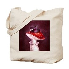 Mushroom Fairy Cat Tote Bag