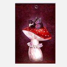 Mushroom Fairy Cat Postcards (Package of 8)