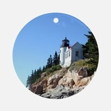 Bass Harbor Light Round Ornament