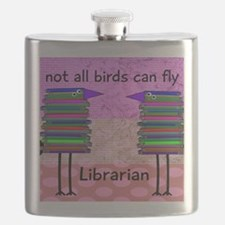 librarian not all birds can fly PINK Flask