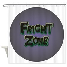 Fright Zone Halloween Shower Curtain