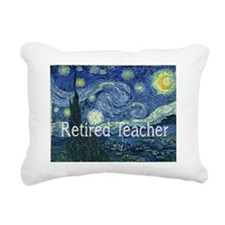 Retired TEacher Van Gogh Rectangular Canvas Pillow
