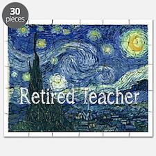 Retired TEacher Van Gogh Blanket Puzzle