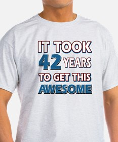 Cool 42 years birthday designs T-Shirt