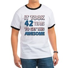 Cool 42 years birthday designs T