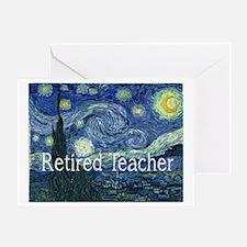 Retired TEacher Van Gogh Blanket Greeting Card