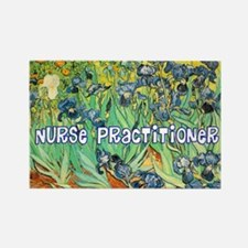 Nurse Practitioner blanket van go Rectangle Magnet