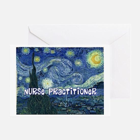 Nurse Practitioner Van goh blanket Greeting Card