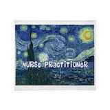 Nurse practitioner graduation Fleece Blankets